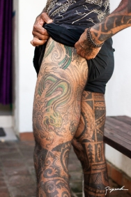 Left leg tattoos